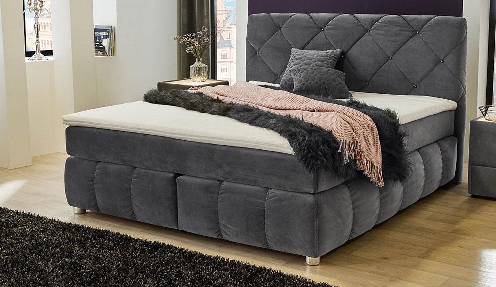 boxspringbett bella 180x200 cm 68626. Black Bedroom Furniture Sets. Home Design Ideas