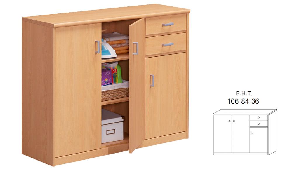 Kommoden kommode sideboard buche 55333 for Kleine kommode buche