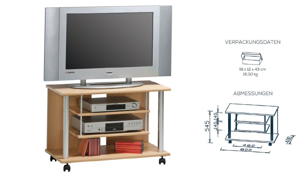 tv m bel tv rack tv m bel 65849 buche. Black Bedroom Furniture Sets. Home Design Ideas